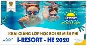 100% tốt nghiệp lớp học bơi miễn phí do I-Resort tổ chức
